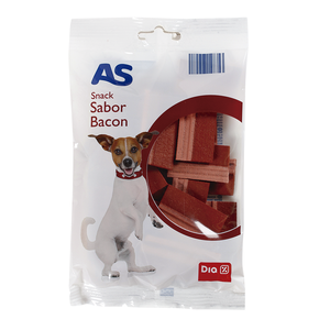 As snack para perros sabor bacon de 120g. en bolsa