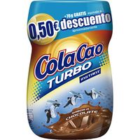 Cola Cao Turbo cacao soluble de 70g. en bote
