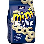 Tirma mini guanchitos galletitas al cacao cubiertas chocolate blanco de 125g. en bolsa