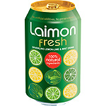 Laimon Fresh refresco lima limon menta con gas 100% ingredientes naturales de 33cl. en lata