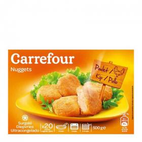 Carrefour nuggets 100 % pollo de 500g.