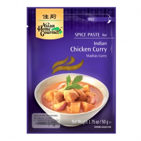 Asian Home Gourmet pasta especia pollo al curry asian home de 50g.