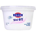Total yogur griego natural 0% m g envase de 170g.