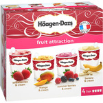 Häagen Dazs fruit collection s helado sabores fruta estuche de 34,8cl. por 4 unidades en tarrina