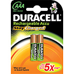 Duracell pila recargable active charge aaa hr03 dx2400 blister por 2 unidades
