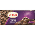 Valor chocolate con leche sin gluten tableta de 300g.