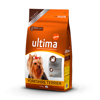 Ultima adult yorkshire terrier rico en pollo arroz perros de 1,5kg.