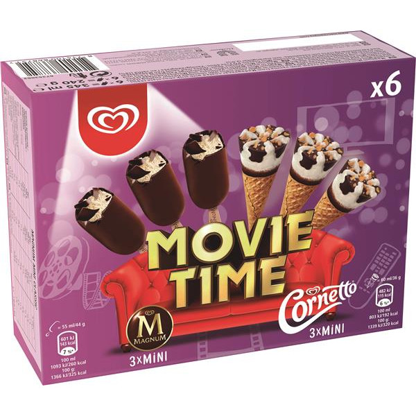 Cornetto movie timex6 por 6 unidades