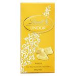 Lindt chocolate lindor blanco relleno mousse tabletas de 170g.