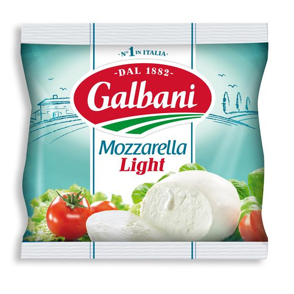 Galbani mozzarella light de 125g. en bolsa