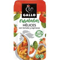 Gallo helices con vegetales de 500g.