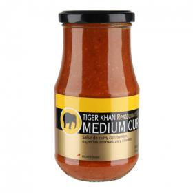 Shere Khan salsa medium curry de 425g.