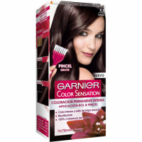 Garnier color sensation tinte castaño nº 4 0 coloracion permanente intensa pincel gratis en caja