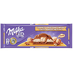 Milka chocolate con caramelo avellana entera tableta de 300g.