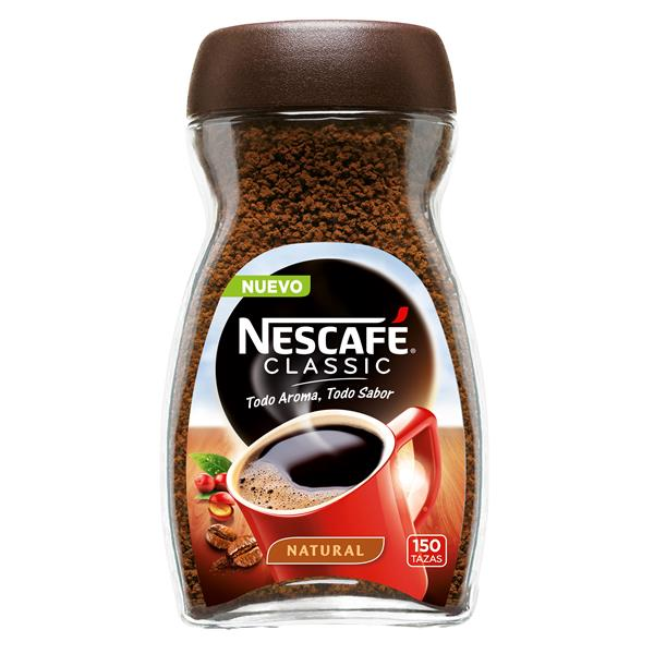 Nescafé cafe soluble natural de 300g.