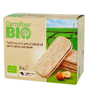 Carrefour galletas con arroz integral bio por 6 unidades