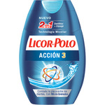 Licor Del Polo 2 en 1 dentifrico enjuague accion 3 con micro granulos de 75ml. en bote