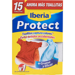 Iberia protect toallitas super absorbentes ropa color evita teñidos accidentales 15 en caja