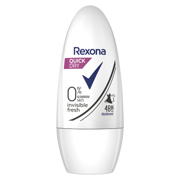 Rexona desodorante invisible fresh 0% sales aluminio 48h envase de 50ml.