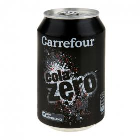 Carrefour refresco cola zero de 33cl.
