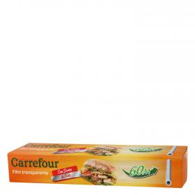 Carrefour film transparente flexible resistente de 60m.