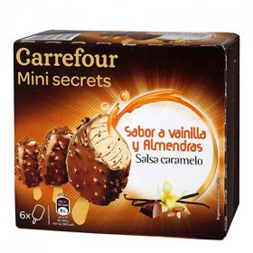 Carrefour mini secret vanil almendra por 6 unidades