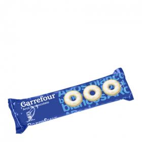 Carrefour aros chocolate blanco de 150g.