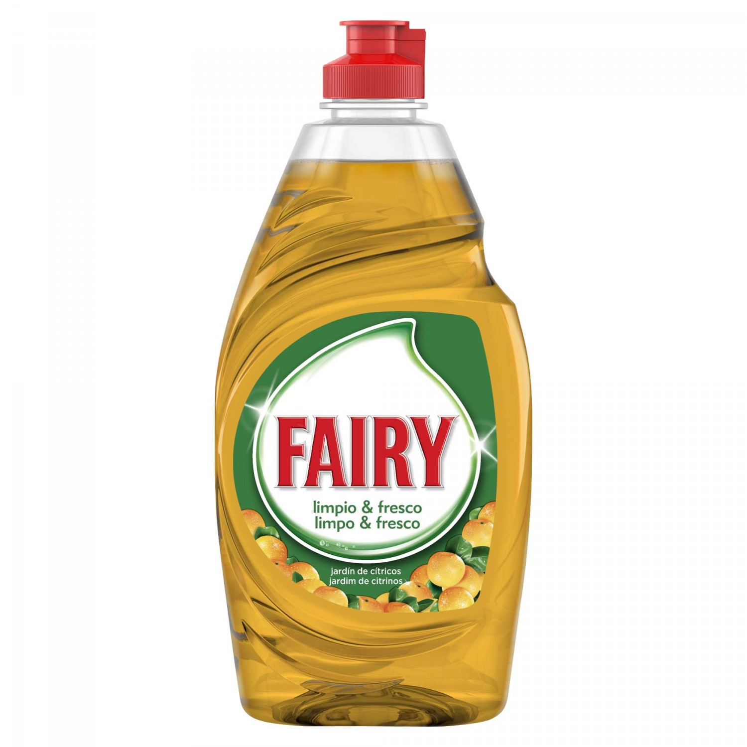 Fairy ultra fresh lavavajillas mano concentrado jardin citricos de 38,3cl. en botella