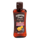 Hawaiian Tropic aceite solar seco proteccion media spf 15 de 10cl. en bote