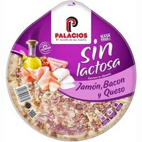 Palacios pizza jamon bacon queso sin lactosa de 345g.
