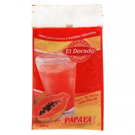 El Dorado pulpa fruta 100 % natural papaya de 250g.