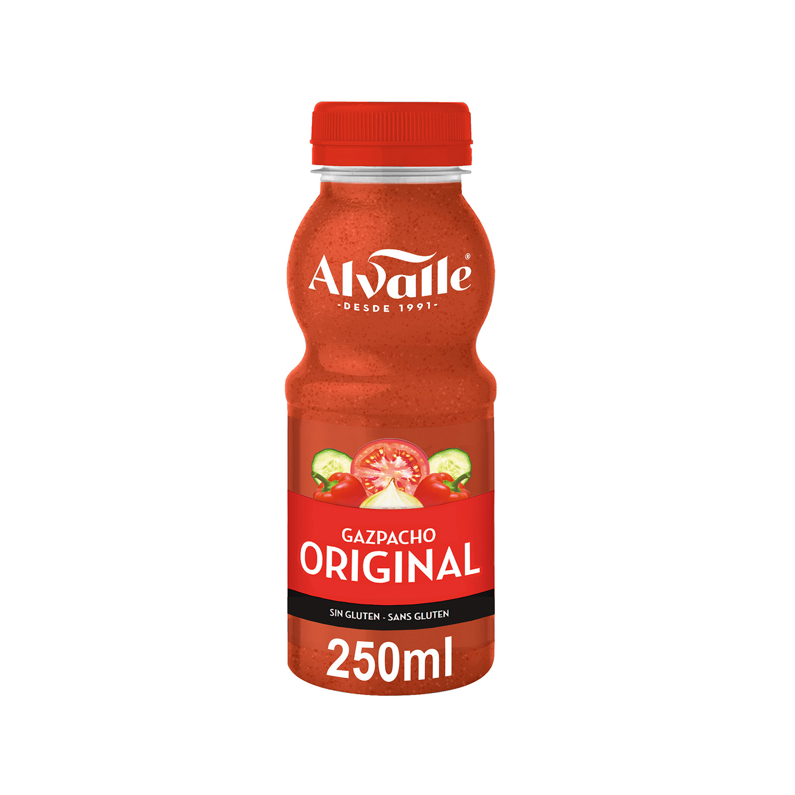 Alvalle alvalle gazpacho original 250ml pet de 25cl. en botella