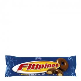 Filipinos filipinos con chocolate con leche filipinos de 100g.