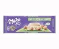 Milka chocolate blanco con avellanas tableta de 300g.