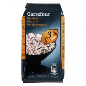 Carrefour arroz 3 colores de 500g.