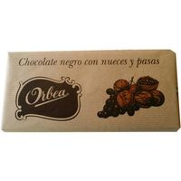 Orbea chocolate negro con nuecespasas tableta de 125g.