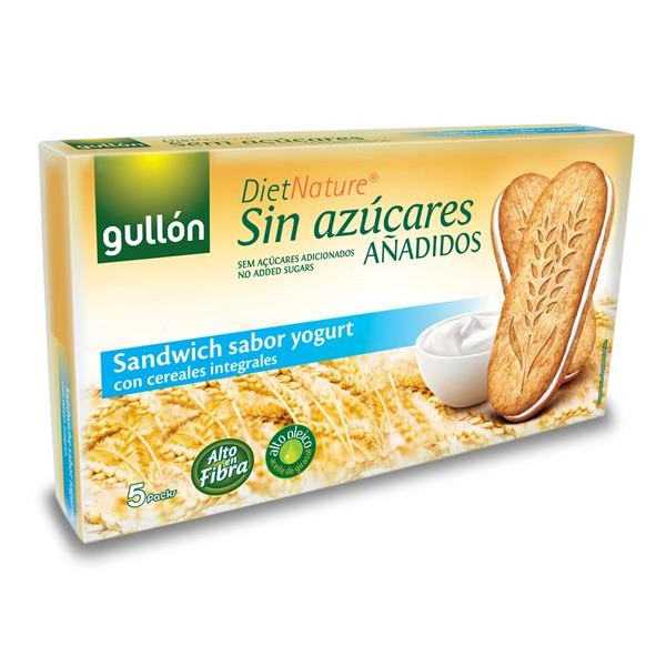 Diet Nature galleta sandwich sabor yogurt diet nature caja de 220g.