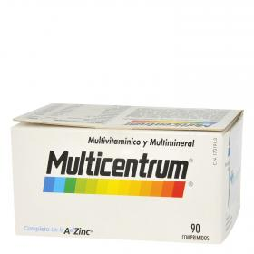 Multicentrum multivitamínico y multimineral adulto multicentrum . 90 en comprimidos
