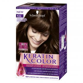 Keratin Color coloración permanente nº 4.6 castaño chocolate keratin color