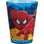 Spiderman vaso decorado acrilico de 29,5cl.