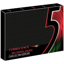 Five chicles turbulence 12 laminas
