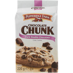 Pepperidge Farm chocolate chunk double galletas con pepitas chocolate negro de 206g. en paquete