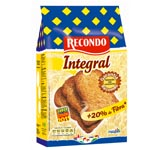 Recondo pan tostado integral de 270g.
