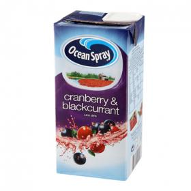 Ocean Spray ocean cranberry & blackcurrant zumo de arándanos y grosellas envase de 1l. en spray
