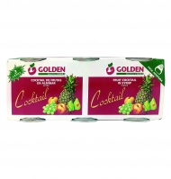 Golden Foods cocktail fru alm 125g por 3 unidades