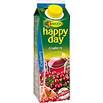 Rauch happy day zumo cranberry con vitamina c envase de 1l.