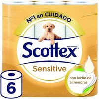 Scottex papel higienico sensitive por 6 unidades