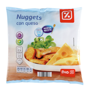 Dia nuggets pollo queso de 500g. en bolsa