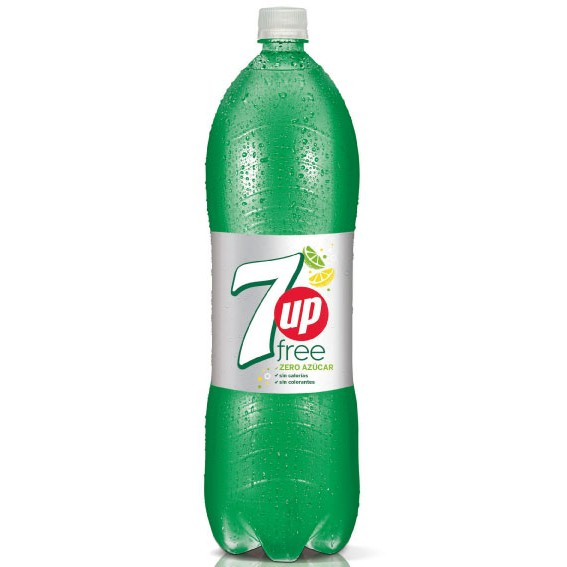 7up lima zero azucar de 2l. en botella