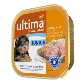 Ultima alimento perro humedo mini junior ultima de 150g.